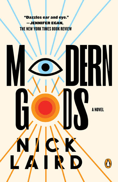 Image of the book cover of Laird's novel, Modern Gods (Paperback)